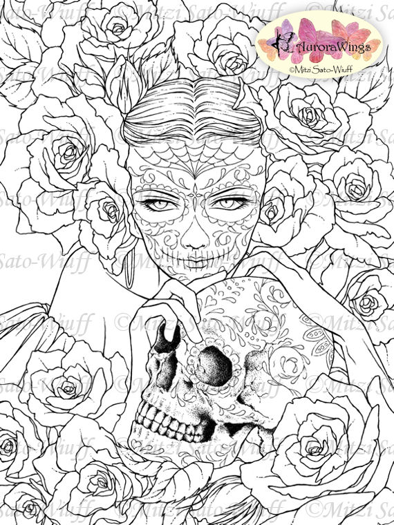 la santa muerte coloring pages - photo #31