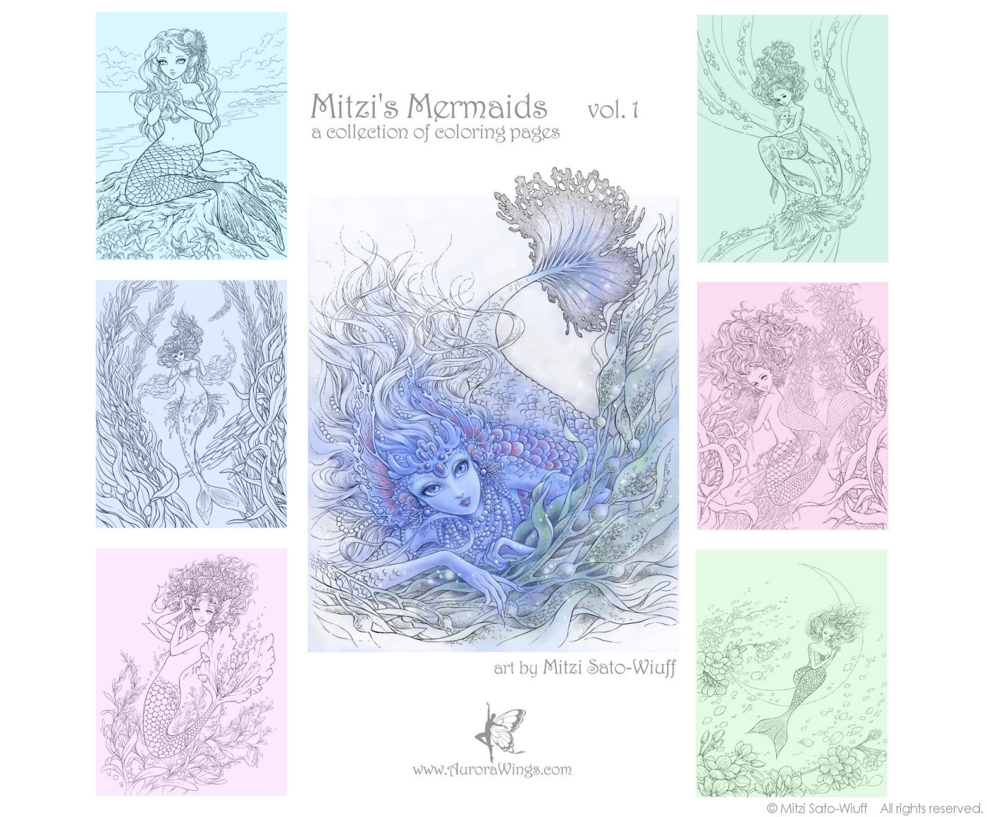 Pin by Gail Stevenson on mermaids | Mermaid coloring pages ... | 1159x1400